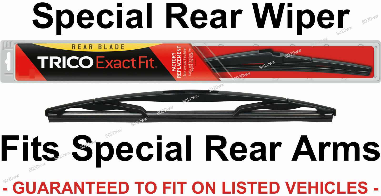 Windshield Wiper Blade-Exact Fit Rear Trico 16-A