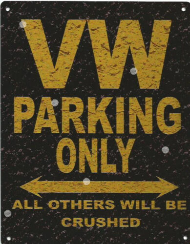 VW PARKING METAL SIGN RUSTIC VINTAGE STYLE 8x10in 20x25cm garage WORKSHOP ART