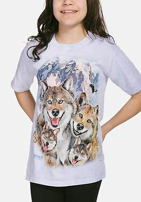 The Mountain Kid/'s Youth T-Shirt White Tiger S-M-L-XL NWT