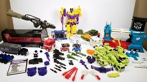 Vintage G1 Transformers Figures Lot G2 Optimus Prime Shockwave Soundwave Magnus