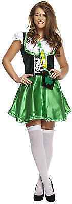 LADY LEPRECHAUN ST PATRICKS DAY IRISH IRELAND FANCY DRESS COSTUME MEDIUM U20 269