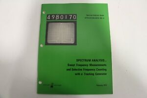 Agilent-HP-Keysight-5952-1109-Application-Note-150-3-Spectrum-Analysis-Series