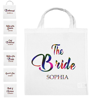 Personalised Team Bride Groom to be Squad Tote Wedding Tribe Hen Do Party Gift