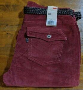 Levi S 515 Bootcut Boot Cut Pantalones De Pana Para Mujer 8 M Oxido Marron Nuevo Con Etiquetas Ebay
