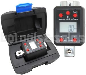 34 DR DIGITAL TORQUE WRENCH ADAPTER MICRO METER FTLB LED 738 flb