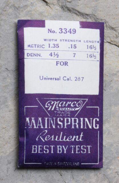 Vintage Universal Geneve Tricompax 287 caliber watch mainspring Swiss NOS part