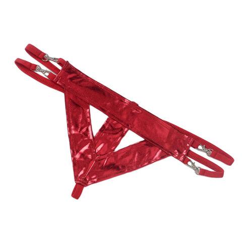 Prettyia Men/'s Leather Thongs Underwear Bulge G-string Jockstrap Underpants