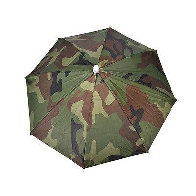 Outdoor Foldable Sun Umbrella Hat Golf Fishing Camping Headwear Cap Head Hats .+