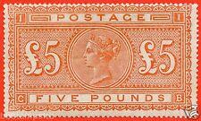 "SG. 137. J128a. "" CB "". £5.00 Orange. A fine UNMOUNTED MINT example."
