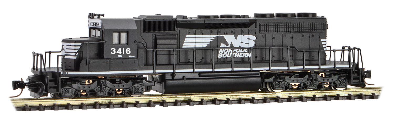 Micro-Trains MTL Z-Scale EMD SD40-2 Diesel Locomotive Norfolk Southern/NS #3416