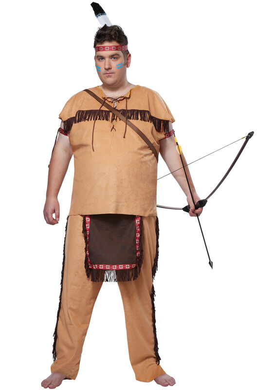 Native American Brave Chief Indian Plus Size Adult Men -4287