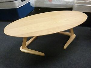 Details About New Stylish Contemporary Oak Oval Coffee Table Furniture Store