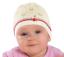 AJS Baby Mädchen Mütze Beanie Taufe Sommermütze Taufe Baumwolle Weiß Rosa Creme