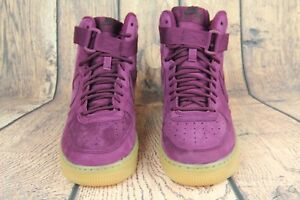 Details about NEW Nike Air Force 1 High WB GS Kids Suede Red Bordeaux Gum 922066 600 SZ