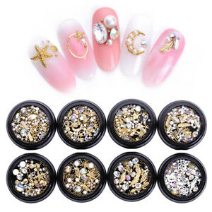 Details About Nail Rhinestones Nail Studs Ab Color Crystal 3d Nail Art Decoration Manicure