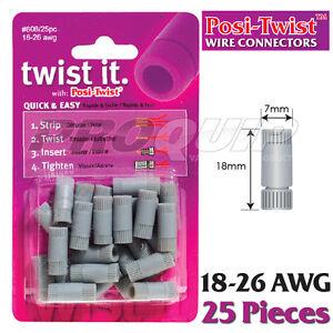 POSI-TWIST-18-26-AWG-NON-IN-LINE-WIRE-CONNECTORS-REUSABLE-NO-CRIMPING-25-PK