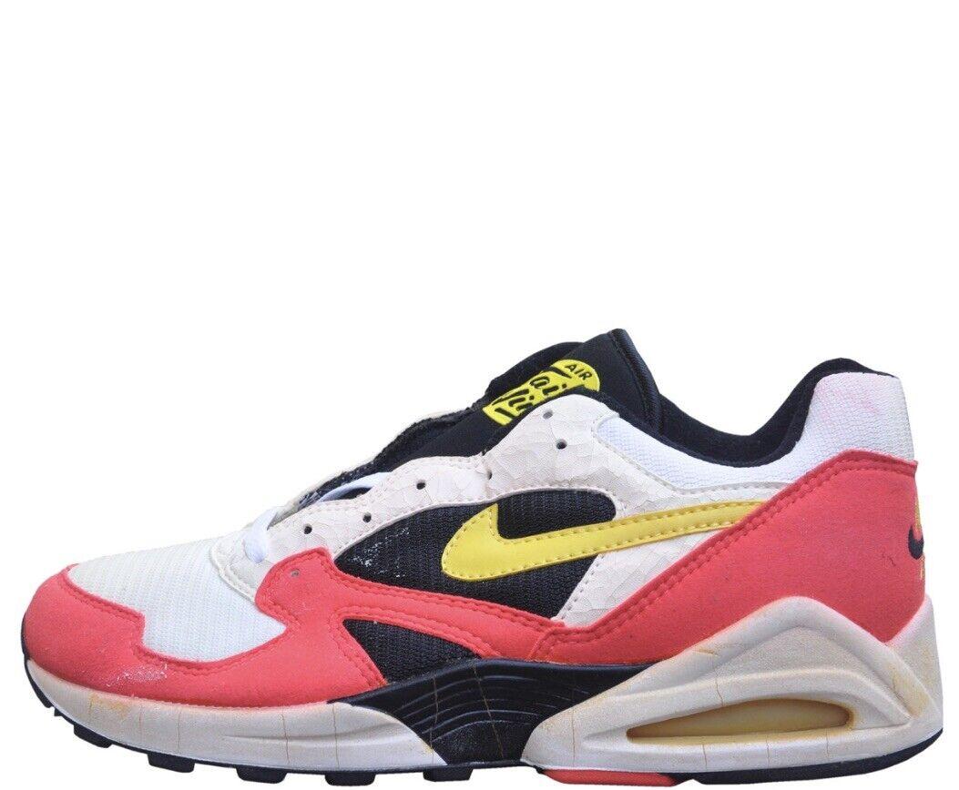 Nike Air Max Tailwind 92 White Yellow Crimson Black Sz 7.5 104019-170