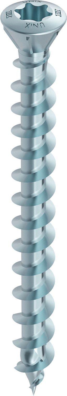 HECO-UNIX-top Dielenschraube blau verzinkt Vollgewinde LiSeKo TX-Antrieb