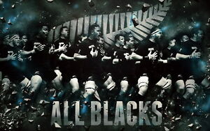 "002 All Blacks - New Zealand Rugby Team Art Sports 38""x24"" Poster"