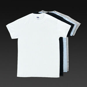 Gildan G5000 Mens Classic Fit Blank T-Shirts, 100% Pre-Shrunk ...