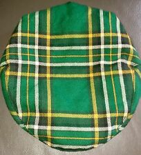 The House of Edgar Scotland Wool Traditional Flat Cap Green Tartan Padded