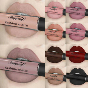 12Color Women Waterproof Matte Lip Gloss Liquid Long Lasting Lipstick Makeup Lot