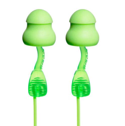 2 PAIA MOLDEX riutilizzabili Ear Plugs-Twisters con filo in schiuma morbida Earplugs 34dB