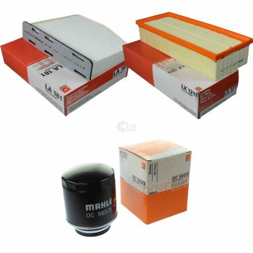 KNECHT Set Filterpaket Innenraumfilter LA 181  LX 1211 Ölfilter OC 593//3 MAHLE