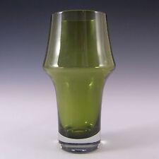 Riihimaki/Riihimaen Lasi Oy Finnish Green Glass Vase
