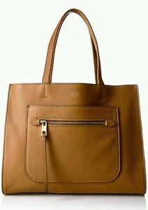 Vince Camuto Elvan Mocha Tan Honey Pebble Leather Fab