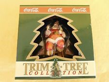Coca Cola TRIM A TREE Ornament 1993 Santa on a stool New GIFT QUALITY NOS