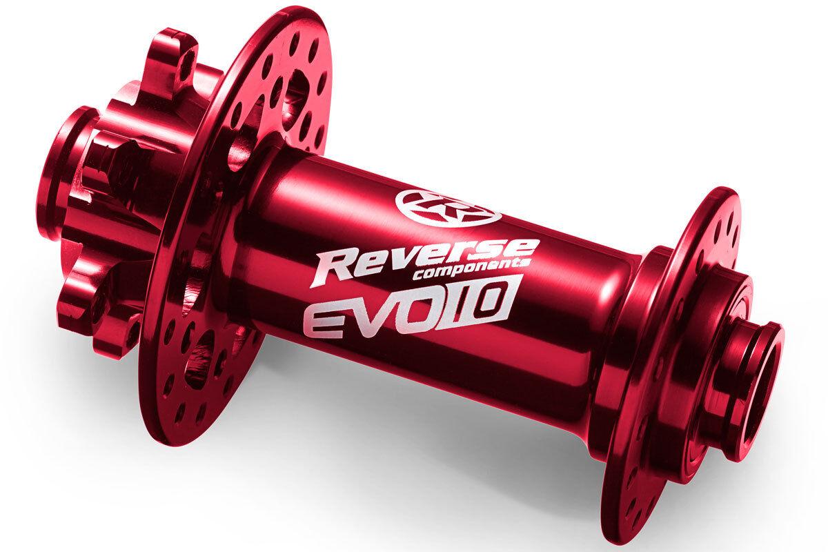 Cubo de la Rueda Delantera Reverse Evo-10 Boost 110 15 con 32 Orificios red