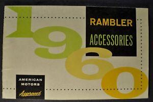 1960 Rambler Accessories Brochure Classic Ambassador AMC Wagon Nice Original 60