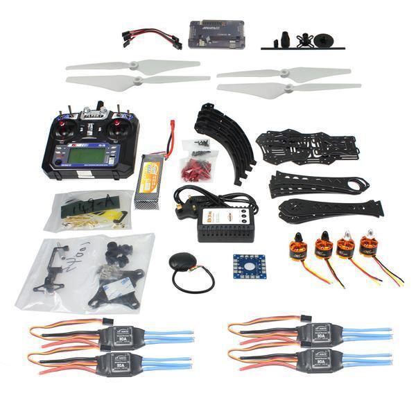 Conjunto completo DIY RC drone quadrocopter x4m380l marco kit APM 2.8 Gimbal TX