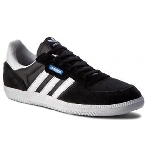 sale retailer 3aa85 21f89 Image is loading Adidas-Originals-Leonero-Mens-Trainers-Black-White-UK-