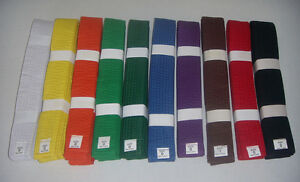 Solid Belts 4 cm Wide Double Wrap for Karate / Taekwondo / Judo / Kendo/Hapkido