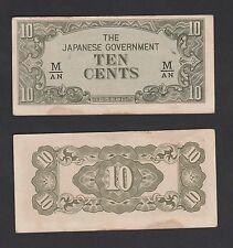 B: Malaya Japanese Occupation 10 Cents (1942) SHIFT UP - EF