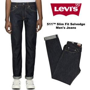 Levis-Men-039-s-511-Slim-Fit-Selvedge-Denim-Jeans