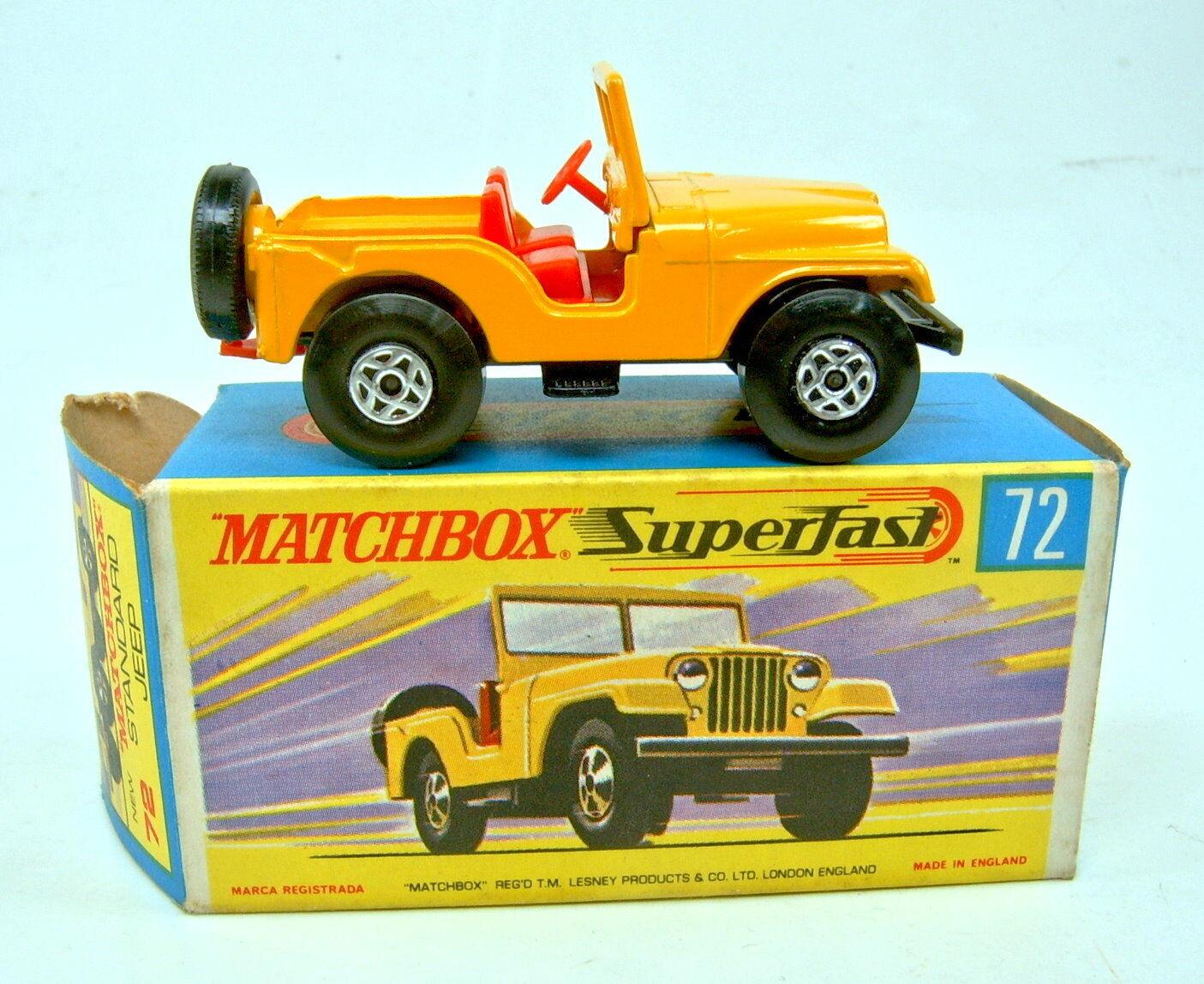 grandes precios de descuento Matchbox SF nº 72a standard jeep jeep jeep amarillo Spiro-ruedas Top en  H  box  el más barato