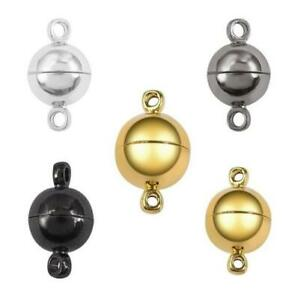10Set-Silver-Gold-Round-Ball-Metal-Magnet-Buckle-Strong-Magnetic-Clasps-DIY