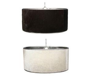 design h ngelampe kuhfell pendellampe braun wei schwarz grau echt lampenschirm ebay. Black Bedroom Furniture Sets. Home Design Ideas