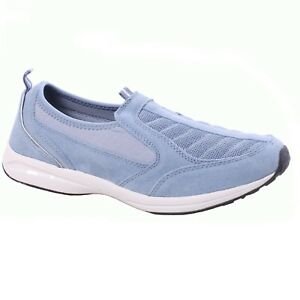 7779be2c88bd8 Details about Women Easy Spirit PIERS Faded Denim Casual Slip-On Athletic  Walking Shoes