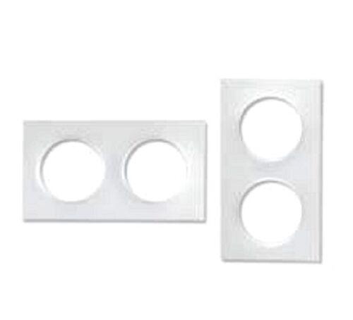 Plaque double Odace Styl blanc   S520704  Schneider lot de 10 plaques