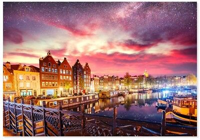 """Jigsaw Puzzles 1000 Pieces /""""Night of Amsterdam Milky Way/"""""""