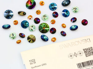 f26a5c5d7 Image is loading Genuine-SWAROVSKI-1122-Rivoli-Round-Crystals-Foiled-Many-