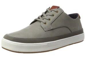 Aldo-hombres-Porretta-low-top-Zapatillas-gris-gris-Oscuro-8-UK-42-EU