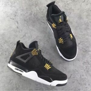 981731c1be2943 New Nike Air Jordan Retro 4 IV Royalty Black Gold Size YOUTH