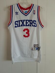save off 2933f a6432 Details about NBA ADIDAS SIXERS NWT 3 IVERSON 76ERS HARDWOOD CLASSIC MEN'S  BASKETBALL SHIRT
