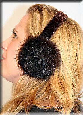 New Brown Beaver Fur Ear Muffs Efurs4less