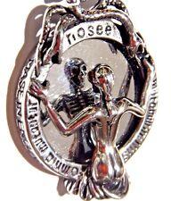 MEMENTO MORI Beauty Skeleton Mirror Pendant silver snake skull necklace goth 3G